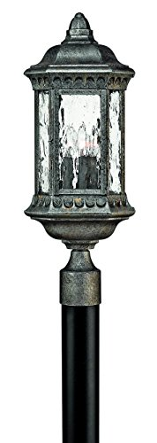 - Hinkley 1721BG Traditional Three Light Post Top/ Pier Mount from Regal collection in Blackfinish,