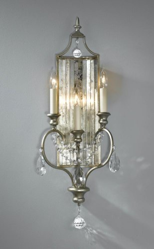 Murray Feiss WB1448GS Gianna 3 Light Sconce, Gilded Silver by Murray Feiss