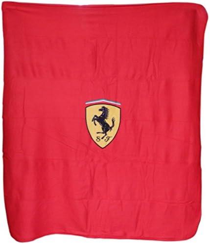 Ferrari F1 Scudetto - Manta de Forro Polar (Talla única), Color Rojo: Amazon.es: Deportes y aire libre