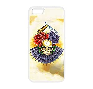 """Fashionable Designed Case Cover for iPhone 6 (4.7"""") Only With Beautiful Skeleton Image Laser Technology Plastic and TPU"""