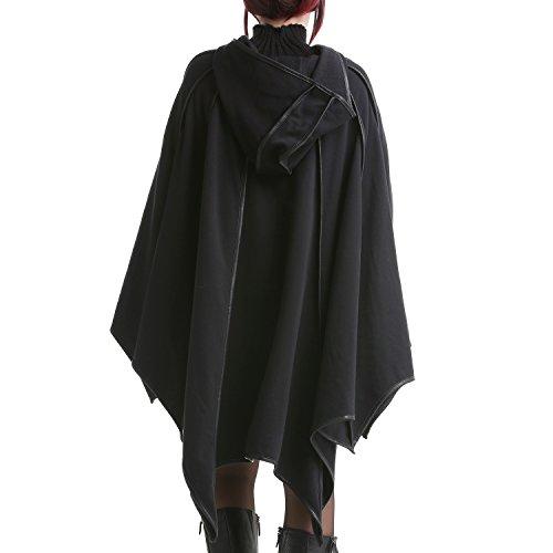 Poncho Negro con Capucha