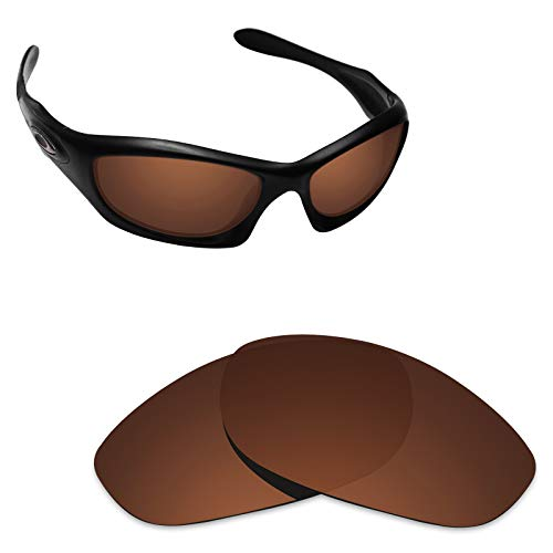 Alphax Dark Brown Polarized Replacement Lenses for Oakley Monster Dog