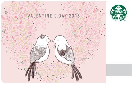 Starbucks Happy Valentine 2016 Celebration Love Bird Couple Pink White Coffee Tree Limited Edition New Collectible Gift Cards Starbucks Korea (Love Bird Card Collectible Only) Happy Bird Day Collection