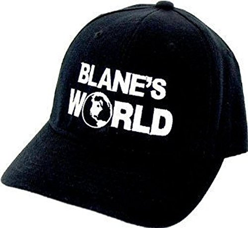 Workaholics Blake Blane's World Fitted Black Baseball Cap Hat]()