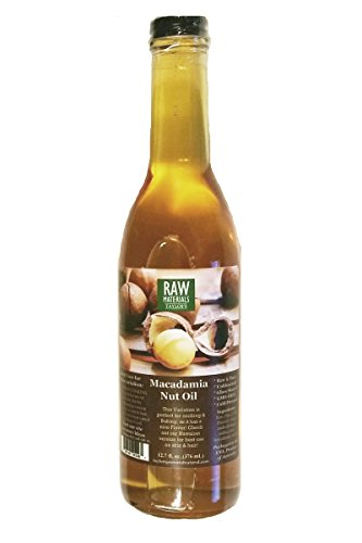 RAW Materials - RAW Virgin Macadamia Nut Oil - Unbleached - Cold Pressed - GMO FREE - 12.7oz. - Great for Cooking / Baking (Egg And Coconut Oil For Hair Loss)