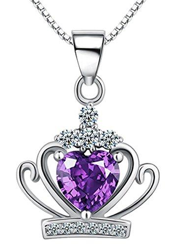 Women necklace_pendant necklace pendant necklace silver Silver Pendant Necklace Necklace_Crystal Necklace Crystal Necklace_ Diamond Necklace Quartz cystal necklace zircon necklace