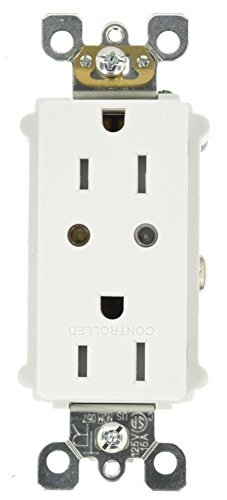 - Leviton VRR15-1LZ Vizia RF + Split Duplex Tamper Resistant Scene Capable Receptacle, White/Ivory/Light Almond, Works with Alexa