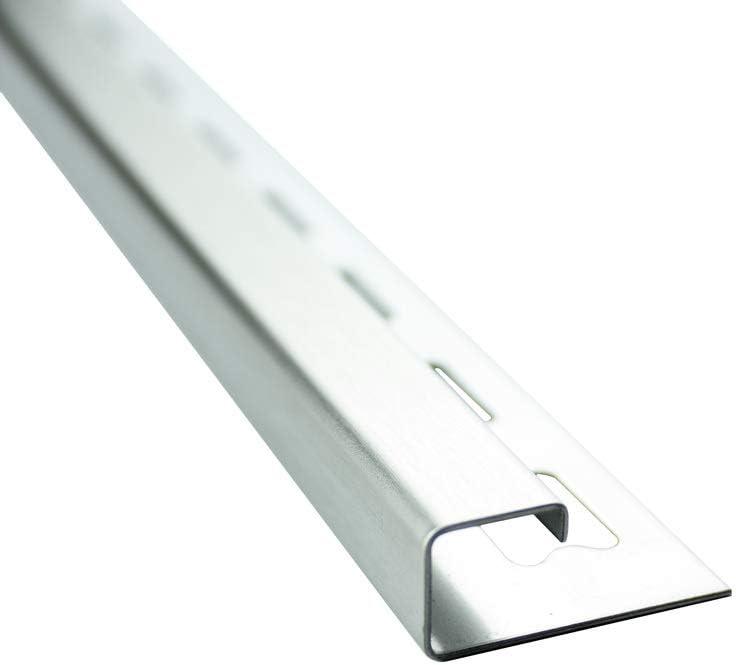 10x Quadrat-Profil Edelstahlschiene Fliesenprofil Fliesenschiene Edelstahl V2A L250cm 12mm geb/ürstet