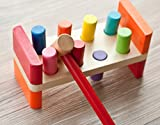 Joyshare Pounding Bench Wooden Toy with Mallet hammering...