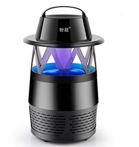 Outdoor Mosquito Killer Lamp LED Photocatalyst Mute Fan Night Light Insect Repellent Travel Camp by Superjune (Black) by Superjune