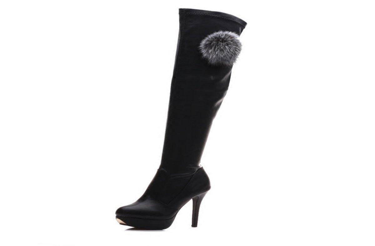 GTVERNH Damenschuhe Winter Hohe Stiefel-Knie-Stiefel Schlanke Beine mit 12Cm High High High Heels Lange Röhre Warme Stiefel. 0c248f