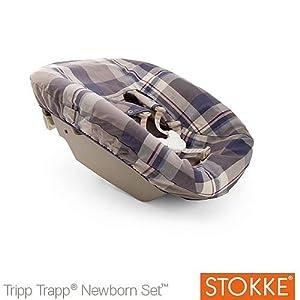 Stokke textile set tripp trapp newborn tartan blue amazon for Stokke tripp trapp amazon