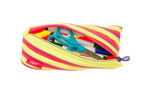 ZIPIT Twister Pencil Case, Yellow and Pink Photo #2