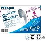 Duschfilter FITaqua, KDF , 1/2 Gewinde , Duschfilter gegen Kalk und Chlor. Reduziert Haarausfall und Hauterretation, Wellness, Markenfilter, Kalkfilter für Dusche & Badewanne