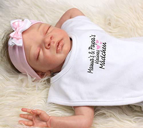 Babysocken mit Glitzer L/ätzchen mit Print Mamas /& Papas kleines M/ädchen Trend Mama Windeltorte M/ädchen Baby Haarband
