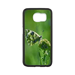 Cases for Samsung Galaxy S6, Butterfly 41 Cases for Samsung Galaxy S6, Evekiss White