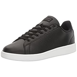 adidas NEO Mens Cloudfoam Advantage Clean Leather Sneakers Black 9 Medium (D)