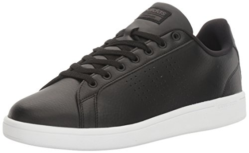 adidas NEO Men's Cloudfoam Advantage Clean Sneakers, Black/Black/Dark Solid Grey, (10.5 M US) (Adidas Black Sneakers)