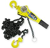 ExpertStores 3/4 Ton Ratcheting Lever Block Chain Hoist Come Along 20 Foot Chain