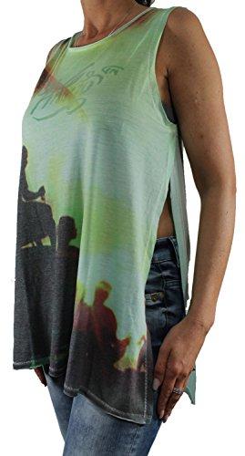 Khujo - Camiseta de manga larga - para mujer mint (GT4AQU-SUN)