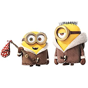 10 Inch Stuart Bob Winter Minions Despicable Me Removable Wall Decal Sticker Art Home Decor Kids Room 9 3 4 Wide By 5 Tall