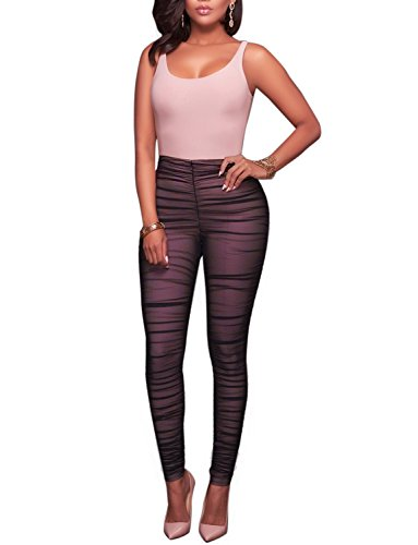 Womens Sexy Bodycon Jumpsuit Sleeveless Schwarz Weste Legging ...