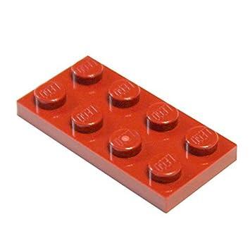 LEGO Bau- & Konstruktionsspielzeug LEGO Bausteine & Bauzubehör LEGO PART 3020 RED 2 x 4 PLATE x 20