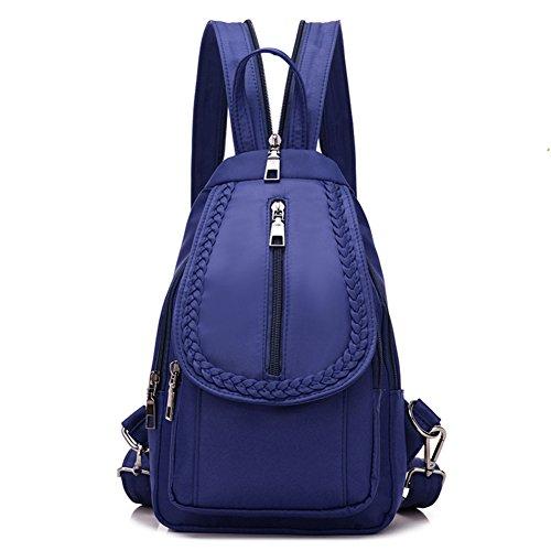 Ladies petto pack,borsa a tracolla doppia,viaggio zaino-blu grande