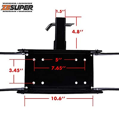 ZESUPER Winch Cradle Winch Mounting Plate, Hitch Mount Winch Plate,Winch Mount Recovery Winches for 8000 lb.-12000 lb.Winches: Automotive