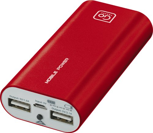 Design Go Twin Power Bank, Red, One Size (Radio Shack Portable Power Bank Not Charging)