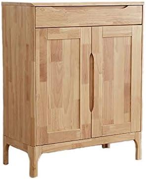 玄関 収納付き ベンチ 現代のリビングルームの家具、木製の靴キャビネット浴室キャビネット80x40x100cm 省スペース おしゃれ (Color : Natural, Size : 80x40x100cm)