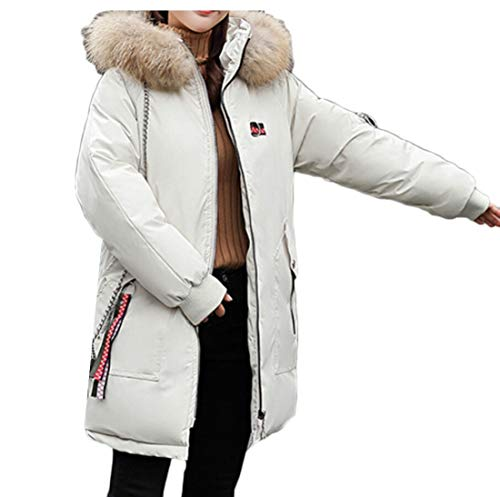 Winter Hood Jacket Long Puffer Coats Parka EKU 2 Overcoat Women's Down 5FqxCtEw
