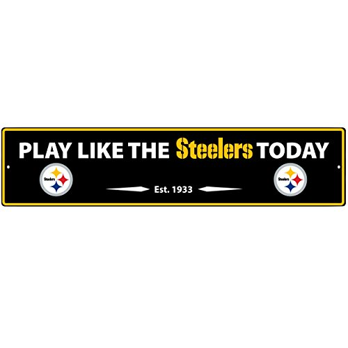NFL Pittsburgh Steelers Street Sign Wall Plaque, ()