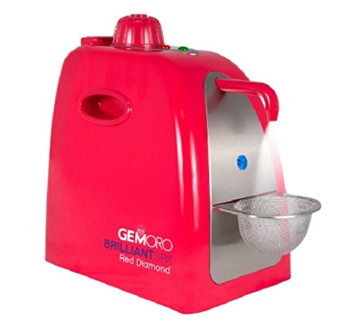 GemOro 1 Pint Brilliant Spa Red Diamond Jewelry Steam Cleaner