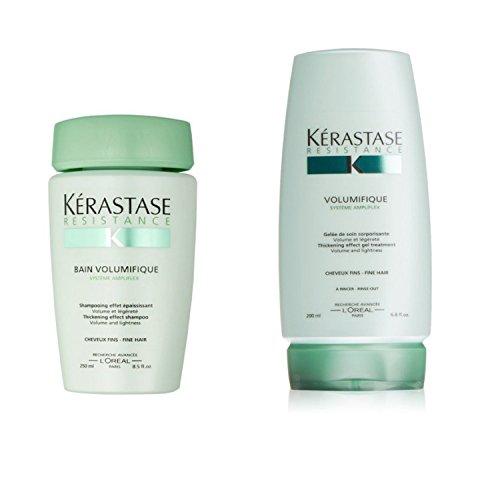 - Bundle - 2 items: Kerastase Resistance Bain Volumifique Shampoo 8.5 Oz & Volumifique Thickening Effect Gel Treatment, 6.8 Oz