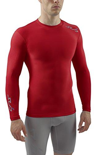 Sports Compression Homme T Rouge Cold shirt Manches De Thermique Sub Longues JK1lFc