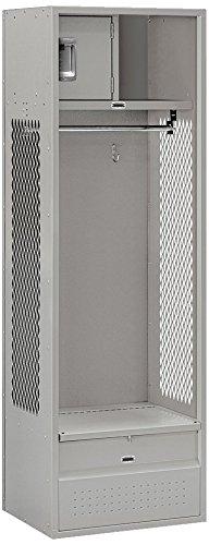 Salsbury Industries Open Access Standard Unassembled Metal Locker, 6-Feet-18-Inch, Grey