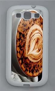 cute covers Coffee Heart Cream TPU White case/cover for Samsung Galaxy S3 I9300