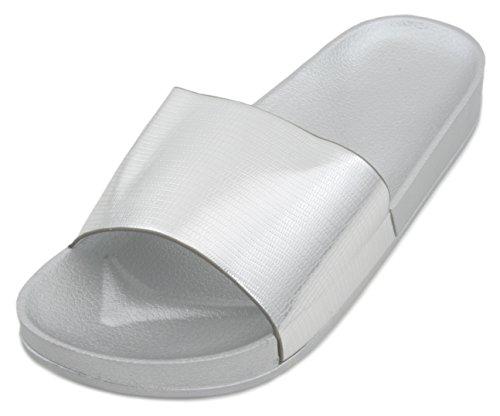 Sandalen für Damen von Sandrocks, metallisch, Flip Flops, Badeschuhe