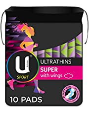 U by Kotex Sport Ultrathin Pads Super with Wings 10 Pack