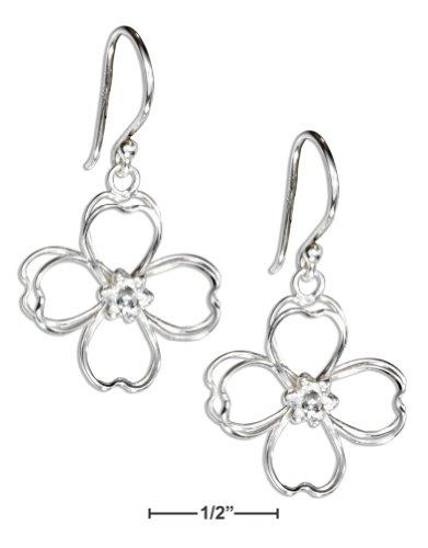 Sterling Silver Wire Double Open Petal Flower (Sterling Silver Open Double Flower)