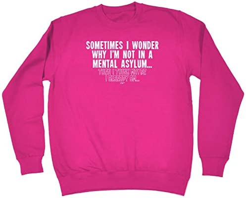 Sometimes I Wonder Why Im Not In A Menta Funny Novelty Hoodie Hoody hooded Top