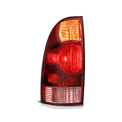(VIPMOTOZ Red Lens OE-Style Tail Light Lamp Assembly For 2005-2008 Toyota Tacoma Pickup Truck, Driver Side)