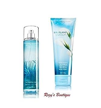 Bath Body Works – Signature Collection SEA ISLAND COTTON -Gift Set- Fine Fragrance Mist Ultra Shea Body Cream