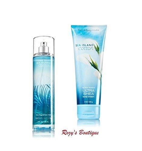 Bath & Body Works - Signature Collection – SEA ISLAND COTTON -Gift Set- Fine Fragrance Mist & Ultra Shea Body Cream