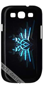 The Legend of Zelda Big Triforce stylish cartoon design HD image case for Samsung Galaxy S3 I9300 black + Gift