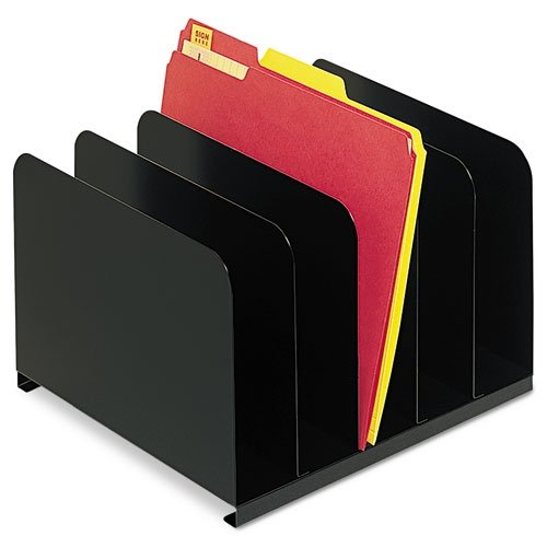MMF Steelmaster Vertical Organizer - 5 Compartment(S) - Steel - Black, 1 Each (MMF2645004) ()