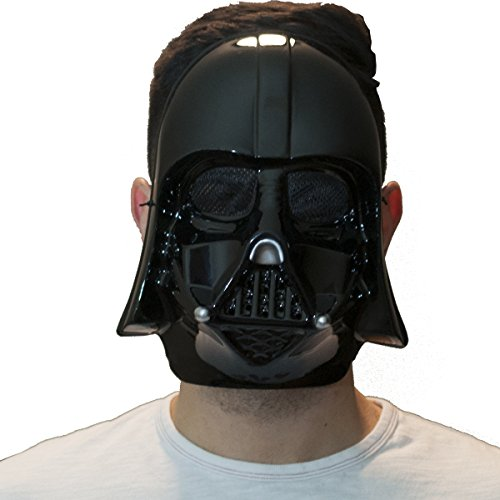Darth Vader Face Mask (The Mask Biz Darth Vader Black Half Face Head Funny Mask PVC)