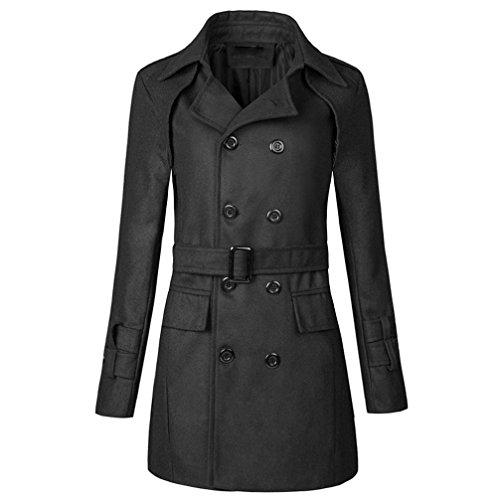 Uomo Autunno Petto Nero Beautytop Doppio Outwear Trench 1 Cappotto Fit Slim Inverno Tops Giacche 6RqWn1Uw