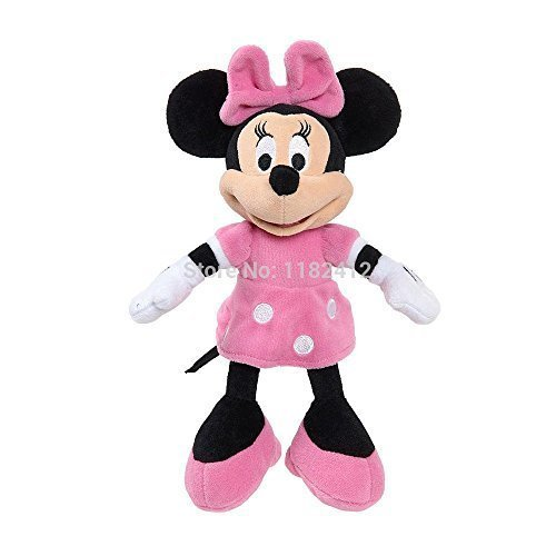 Original Minnie Plush Toys Pelucia Minnie Pink Stuffed Doll 25CM 10'' Mickey Mouse Toys for Children Kids Gifts Free Shipping